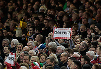 Wales fans cheer a penalty<br /> <br /> Photographer Simon King/CameraSport<br /> <br /> International Rugby Union - 2017 Under Armour Series Autumn Internationals - Wales v Australia - Saturday 11th November 2017 - Principality Stadium - Cardiff<br /> <br /> World Copyright &copy; 2017 CameraSport. All rights reserved. 43 Linden Ave. Countesthorpe. Leicester. England. LE8 5PG - Tel: +44 (0) 116 277 4147 - admin@camerasport.com - www.camerasport.com