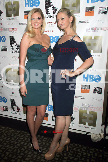 NEW YORK, NY - OCTOBER 12: Kate Upton and Kate Lacey at the premiere party for HBO Documentary Films ?Casting By,? at the Empire Hotel in New York City. October 12, 2012. ©RW/MediaPunch Inc. /NortePhotoAgency