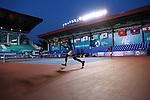 Makoto Ninomiya &   Yasutaka Uchiyama (JPN),<br /> AUGUST 21, 2018 - Tennis : <br /> Mixed Doubles Round of 16<br /> at Jakabaring Sport Center Tennis Court <br /> during the 2018 Jakarta Palembang Asian Games <br /> in Palembang, Indonesia. <br /> (Photo by Yohei Osada/AFLO SPORT)