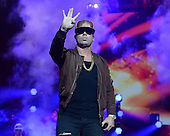 MIAMI, FL - NOVEMBER 07: Wisin performs during the iHeartRadio Fiesta Latina concert at American Airlines Arena on November 7, 2015 in Miami, Florida. Credit Larry Marano © 2015