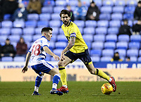 Blackburn Rovers' Charlie Mulgrew competing with Reading's Ovie Ejaria  <br /> <br /> Photographer Andrew Kearns/CameraSport<br /> <br /> The EFL Sky Bet Championship - Reading v Blackburn Rovers - Wednesday 13th February 2019 - Madejski Stadium - Reading<br /> <br /> World Copyright © 2019 CameraSport. All rights reserved. 43 Linden Ave. Countesthorpe. Leicester. England. LE8 5PG - Tel: +44 (0) 116 277 4147 - admin@camerasport.com - www.camerasport.com