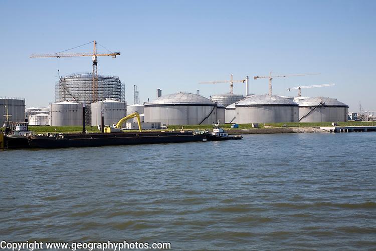 Storage tanks, Port of Rotterdam, Netherlands