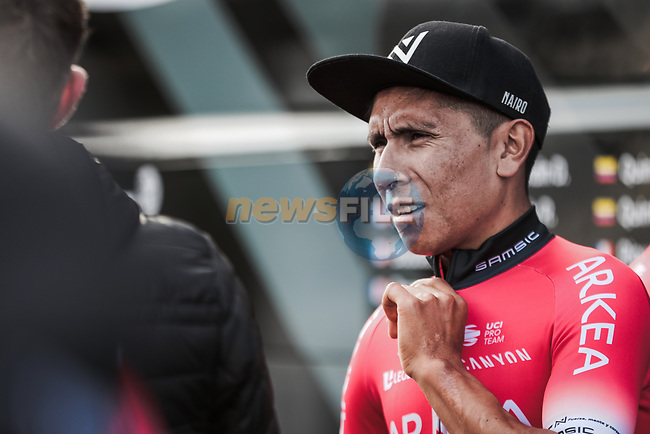Nairo Quintana (COL) Team Arkea-Samsic at sign on before Stage 5 of the 78th edition of Paris-Nice 2020, running 227km from Gannat to La Cote-Saint-Andre, France. 12th March 2020.<br /> Picture: ASO/Fabien Boukla | Cyclefile<br /> All photos usage must carry mandatory copyright credit (© Cyclefile | ASO/Fabien Boukla)
