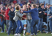 02/05/16 Sky Bet League Championship  Burnley v QPR<br /> Scott Arfield mobbed by fans after the final whistle