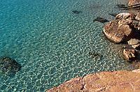 Bucht von Cala Salada, Ibiza, Balearen, Spanien