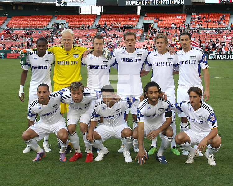 Starting eleven of the Kansas City Wizards during an MLS match against D.C. United at RFK Stadium on May 5 2010, in Washington DC. United won 2-1