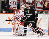 Kieran Millan (BU - 31), Derek Army (PC - 19) - The Boston University Terriers defeated the visiting Providence College Friars 6-1 on Friday, January 20, 2012, at Agganis Arena in Boston, Massachusetts.