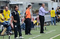 SAO PAULO, SP, 05 MARÇO DE 2012 - CAMP. PAULISTA - SANOTOS X CORINTHIANS -Tecnico Murici durante partida entre Santos x Corinthians na Vila Belmiro.. (FOTO: ADRIANO LIMA - BRAZIL PHOTO PRESS)