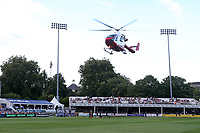 The Essex & Herts Air Ambulance leaves the ground after attending a medical emergency ahead of Essex Eagles vs Kent Spitfires, NatWest T20 Blast Cricket at The Cloudfm County Ground on 17th August 2017