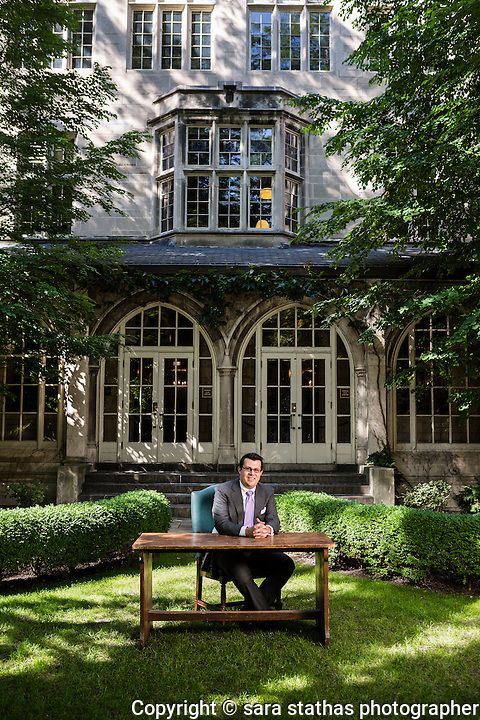 James Koutoulas, Typhon Capital Management CEO, photographed at Northwestern University Law School in Chicago
