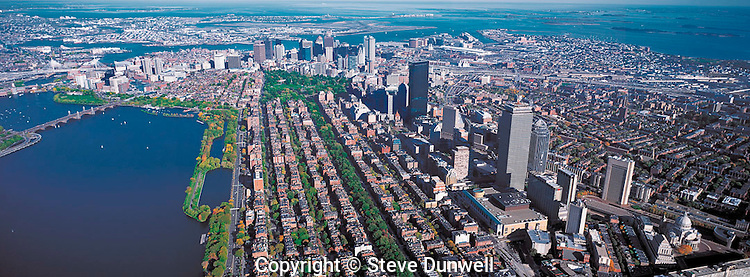 aerial panorama Boston MA  approx 2000'