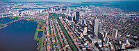 aerial panorama Boston MA  approx 2000'