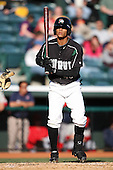April 10, 2010:  Outfielder Gorkys Hernandez of the Altoona Curve during a game at Blair County Ballpark in Altoona, PA.  Altoona is the Double-A Eastern League affiliate of the Pittsburgh Pirates.  Photo By Mike Janes/Four Seam Images