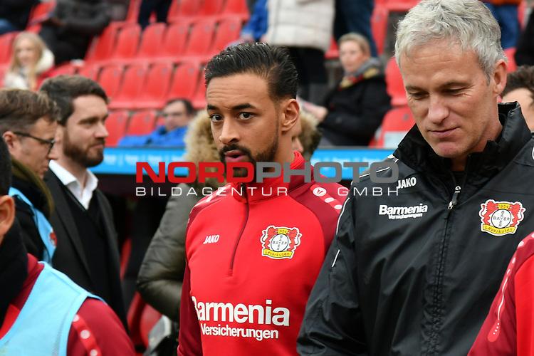 28.01.2018, BayArena, Leverkusen , GER, 1.FBL., Bayer 04 Leverkusen vs. 1. FSV Mainz 05<br /> im Bild / picture shows: <br /> Karim Bellarabi (Leverkusen #38), <br /> <br /> <br /> Foto &copy; nordphoto / Meuter