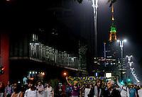 SÃO PAULO,SP, 18 Junho 2013 - Manifestacao em pela reducao do valor das passagem que acontece nesta terca feira 18 na Praca da Se regiao central de Sao Paulo.  Na foto manifestantes na Avenida paulistaFOTO ALAN MORICI - BRAZIL FOTO PRESS