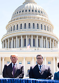United States President Donald J. Trump stands next to Attorney General William Barr during the 38th annual National Peace Officers' Memorial Service, at the U.S. Capitol in Washington, D.C. on May 15, 2019. <br /> Credit: Kevin Dietsch / Pool via CNP