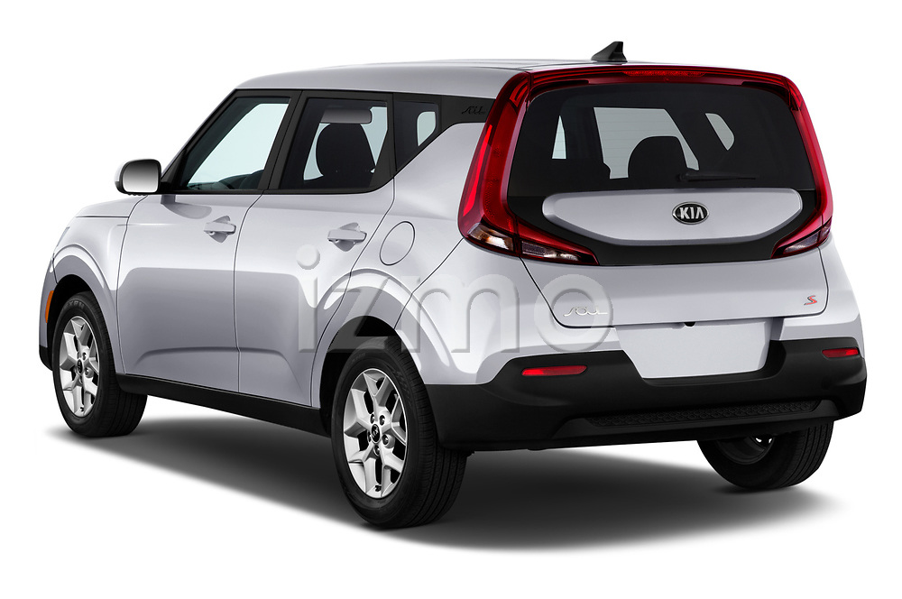 Car pictures of rear three quarter view of 2020 KIA Soul S 5 Door Hatchback Angular Rear