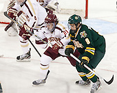 Steven Whitney (BC - 21), Kyle Reynolds (UVM - 9) - The Boston College Eagles defeated the University of Vermont Catamounts 4-1 on Friday, February 1, 2013, at Kelley Rink in Conte Forum in Chestnut Hill, Massachusetts.