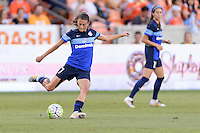 Houston, TX - Sunday June 19, 2016: Mandy Laddish during a regular season National Women's Soccer League (NWSL) match between the Houston Dash and FC Kansas City at BBVA Compass Stadium.