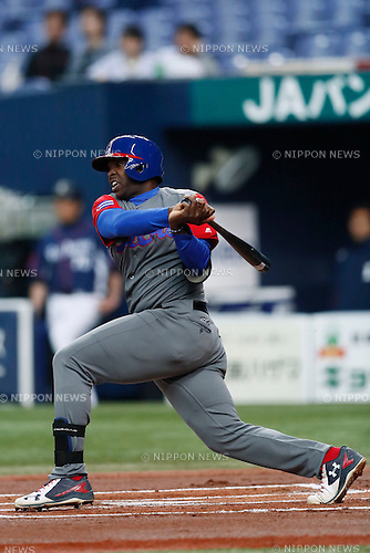 Willian Saavedra (CUB), <br /> MARCH 5, 2017 - Baseball : <br /> 2017 World Baseball Classic Exhibithion Game <br /> between Seibu Lions - Cuba <br /> at Kyocera Dome Osaka in Osaka, Japan. <br /> (Photo by Yohei Osada/AFLO SPORT)