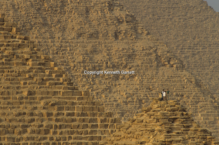 Egypt's Old Kingdom; Khafre; Khufu; Menkaure;Pyramids at Giza; Giza; Egypt
