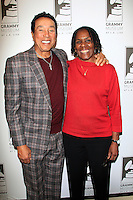 LOS ANGELES - JAN 28: Smokey Robinson, Marcia Thomas at the 30th Anniversary of 'We Are The World' at The GRAMMY Museum on January 28, 2015 in Los Angeles, California