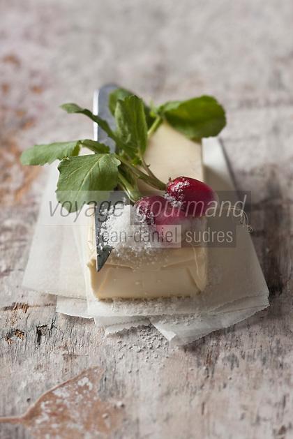 Gastronomie générale: Radis roses, sel et beurre - Stylisme : Valérie LHOMME