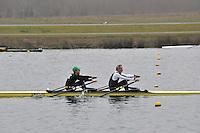 049 AbingdonRC MasE.2x..Marlow Regatta Committee Thames Valley Trial Head. 1900m at Dorney Lake/Eton College Rowing Centre, Dorney, Buckinghamshire. Sunday 29 January 2012. Run over three divisions.
