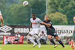 20.07.2018, Parkstadion, Zell am Ziller, AUT, FSP, 1.FBL, SV Werder Bremen (GER) vs 1. FC Koeln (GER)<br /> <br /> im Bild<br /> Sehrou Guirassy (Koeln #19) im Duell / im Zweikampf mit Philipp Bargfrede (Werder Bremen #44), <br /> <br /> Foto © nordphoto / Ewert