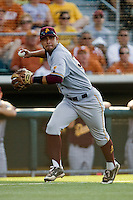 Arizona State Sun Devil third baseman RIccio Torrez #30 prepares to throw to first base against the Texas Longhorns in NCAA Tournament Super Regional Game #3 on June 12, 2011 at Disch Falk Field in Austin, Texas. (Photo by Andrew Woolley / Four Seam Images)