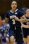 29 January 2015: Pitt's Brianna Kiesel. The Duke University Blue Devils hosted the University of Pittsburgh Panthers at Cameron Indoor Stadium in Durham, North Carolina in a 2014-15 NCAA Division I Women's Basketball game. Duke won the game 62-45.