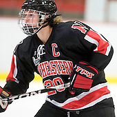 Katy Applin (NU - 20) - The Harvard University Crimson defeated the Northeastern University Huskies 1-0 to win the 2010 Beanpot on Tuesday, February 9, 2010, at the Bright Hockey Center in Cambridge, Massachusetts.