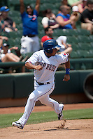 Round Rock Express outfielder Yangervis Solarte #26 rounds third base heading home during the Pacific Coast League baseball game against the Memphis Redbirds on May 6, 2012 at The Dell Diamond in Round Rock, Texas. The Express defeated the Redbirds 5-1. (Andrew Woolley/Four Seam Images)