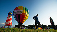 READINGTON, NJ - JULY 27: Participants get ready during the QuickCheck New Jersey Festival of Ballooning on July 27, 2019 in Readington, NJ. More than 100 hot air balloons are taking part in the show where at least 165.000 are expected to attend.  (Photo by Eduardo MunozAlvarezVIEWpress)