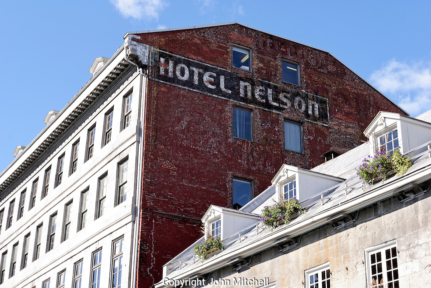 The Hotel Nelson on Place Jacques Cartier in Old Montreal, Quebec, Canada