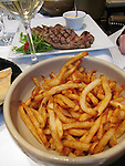 Bowl of French fries in Paris, France