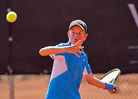 Netherlands, Rotterdam August 07, 2015, Tennis,  National Junior Championships, NJK, TV Victoria, Daan van Dijk<br /> Photo: Tennisimages/Henk Koster