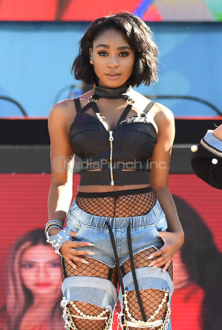 NEW YORK, NY - June 2: Normani Kordei of Fifth Harmony  perform at the Rumsey Playfield in Central Park for the 2017 Good Morning America Concert Series on May 26, 2017 in New York City. Photo by : John Palmer/MediaPunch