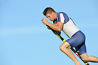 FIERLJEPPEN: IJLST: 11-06-2014, Thomas Helmholt wint in de senioren topklasse met 20., ©foto Martin de Jong FIERLJEPPEN: FRYSLÂN: Historie, ©foto Martin de Jong