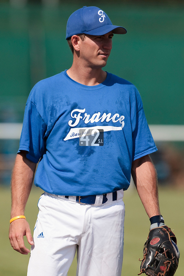 21 july 2010: Robin Allemand of Team France is seen during a practice prior to the 2010 European Championship Seniors, in Neuenburg, Germany.