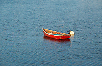 Red Rowboat, Maine, ME, USA