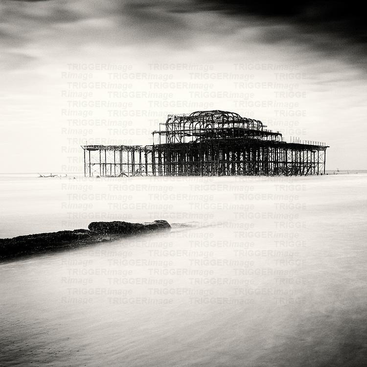 West pier, Brighton, West Sussex, England