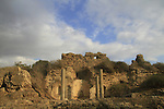 Israel, Coastal Plain, remains of St. Mary Viridis Bizantine Church in Ashkelon