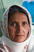 Dehradun, India.  Portrait of a Muslim Woman, with Nose-pin.