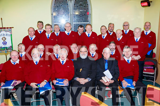 Archdeacon Simon Lumby withthe Killorglin Mens Choir who performed at the Carol service in St Michaels church Killorglin on Sunday night