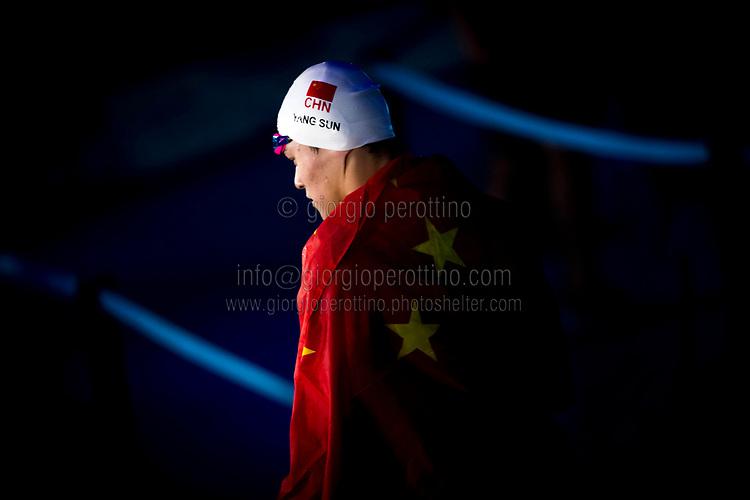 SUN Yang CHN gold medal<br /> swimming<br /> Men's 400m freestyle final<br /> Day 10 23/07/2017 <br /> XVII FINA World Championships Aquatics<br /> Photo © Giorgio Perottino/Deepbluemedia/Insidefoto
