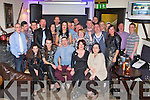 DOUBLE CELEBRATION: Kathryn Scroope, The Spa and Chris Bentley, Tralee (seated 2nd & 3rd left) celebrating their birthdays with family and friends at Quanes bar, Blennerville on Saturday.