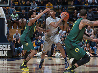Berkeley, CA - Feb 25th, 2015: California Golden Bears' 69-80 loss against Oregon Ducks during NCAA Men's Basketball game at Haas Pavilion.