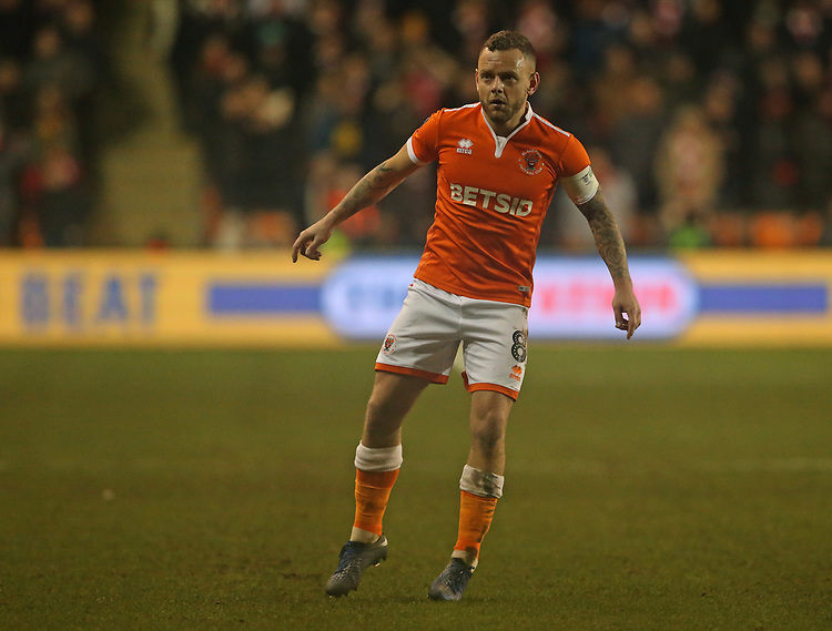 Blackpool's Jay Spearing<br /> <br /> Photographer Stephen White/CameraSport<br /> <br /> Emirates FA Cup Third Round - Blackpool v Arsenal - Saturday 5th January 2019 - Bloomfield Road - Blackpool<br />  <br /> World Copyright &copy; 2019 CameraSport. All rights reserved. 43 Linden Ave. Countesthorpe. Leicester. England. LE8 5PG - Tel: +44 (0) 116 277 4147 - admin@camerasport.com - www.camerasport.com