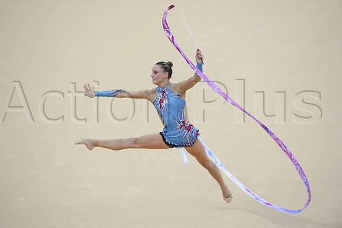10.08.2012. London, England. Dolphins Ledoux FRA Ribbon Rythmic Gymnastcis 2012 London Olympic Games.